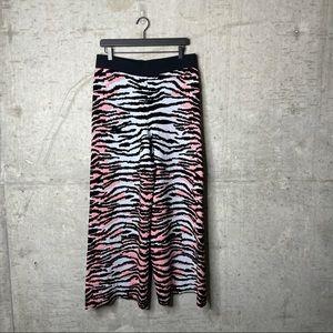 KENZO X H&M Zebra Multi Color Heavy Knit Pants M